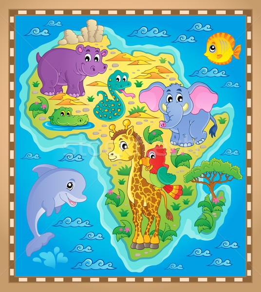 Africa map theme image 2 Stock photo © clairev