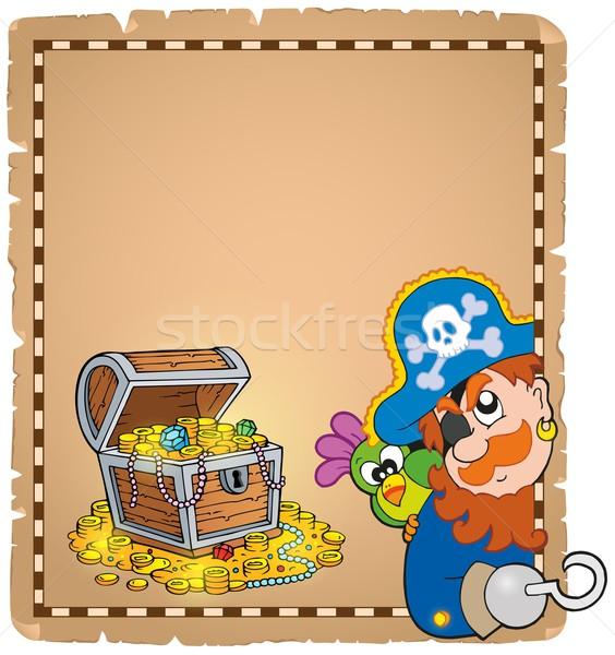 Pirate theme parchment 8 Stock photo © clairev