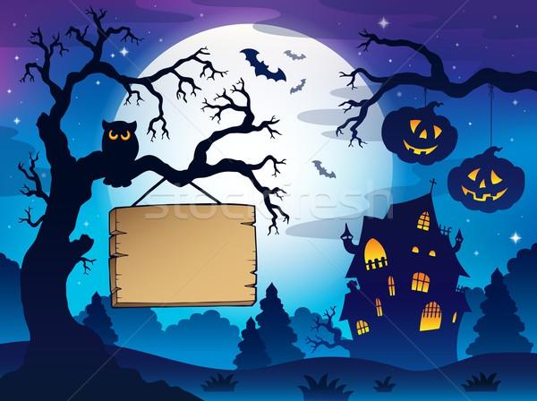 Scenery with Halloween thematics 3 Stock photo © clairev