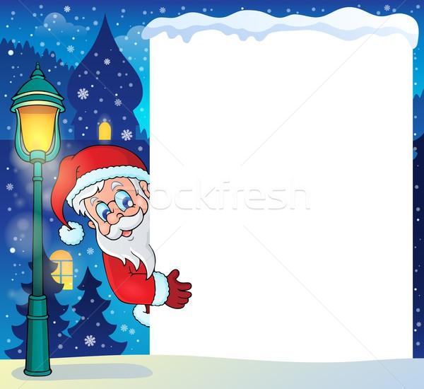 Frame with Santa Claus theme 5 Stock photo © clairev