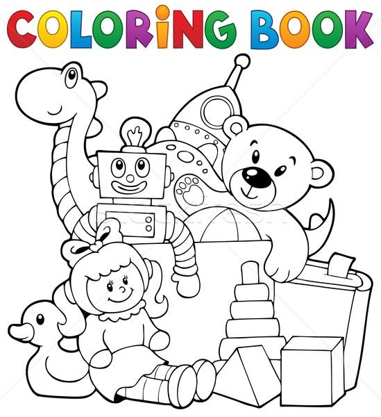 Carte De Colorat Jucării Carte Vopsea Artă