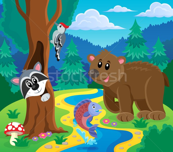 Forest animals topic image 5 Stock photo © clairev