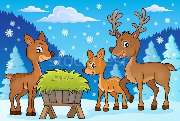 Deer theme image 1 Stock photo © clairev