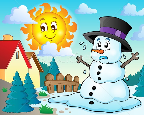 Melting snowman theme image 2 Stock photo © clairev