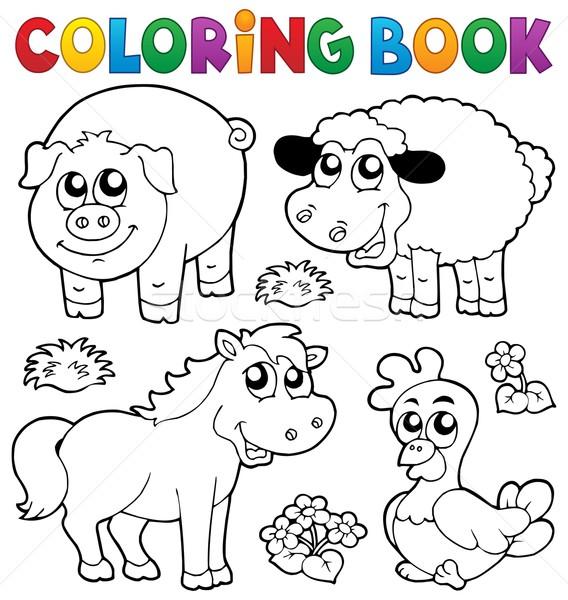Boyama Kitabı çiftlik Hayvanları Kitap Mutlu Boya