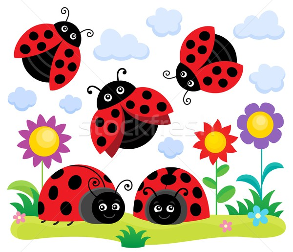 Stylized ladybugs theme image 1 Stock photo © clairev