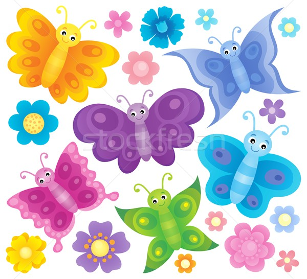 Stylized butterflies theme set 3 Stock photo © clairev
