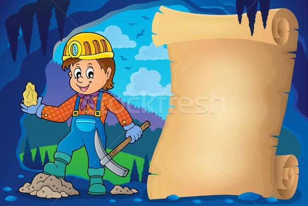 Miner theme parchment 1 Stock photo © clairev
