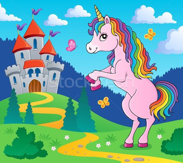 Standing unicorn theme image 4 Stock photo © clairev