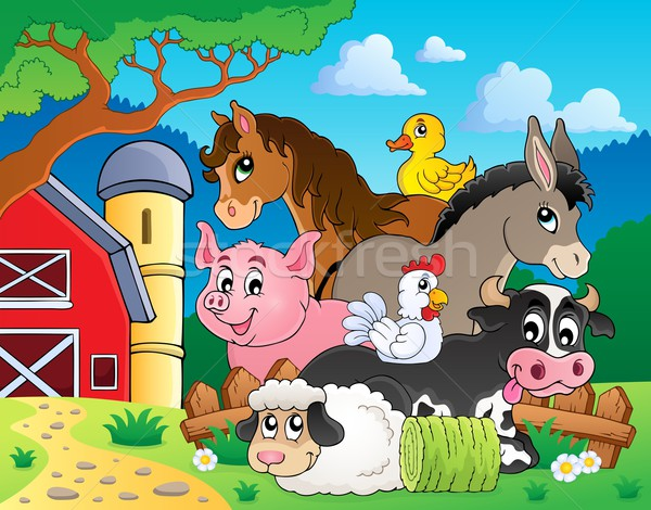 Stock photo: Farm animals topic image 3