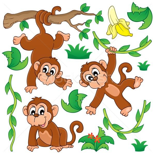 Monkey theme collection 1 Stock photo © clairev