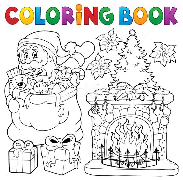 Coloring book Christmas thematics 9 Stock photo © clairev