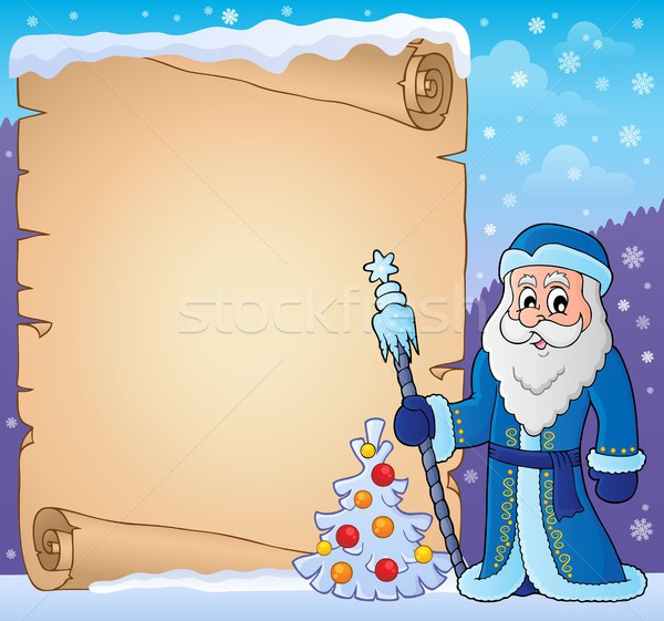 Father Frost theme parchment 3 Stock photo © clairev
