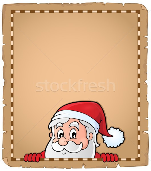 Lurking Santa Claus topic parchment 2 Stock photo © clairev