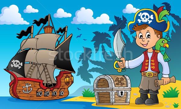 Pirata menino tópico imagem criança mar Foto stock © clairev