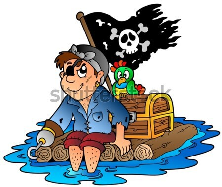 Young cartoon pirate 2 Stock photo © clairev