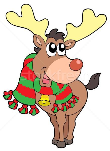 Smiling Christmas elk Stock photo © clairev