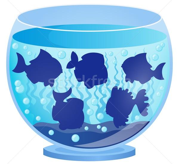 水族館 魚 シルエット 水 芸術 水中 ストックフォト © clairev