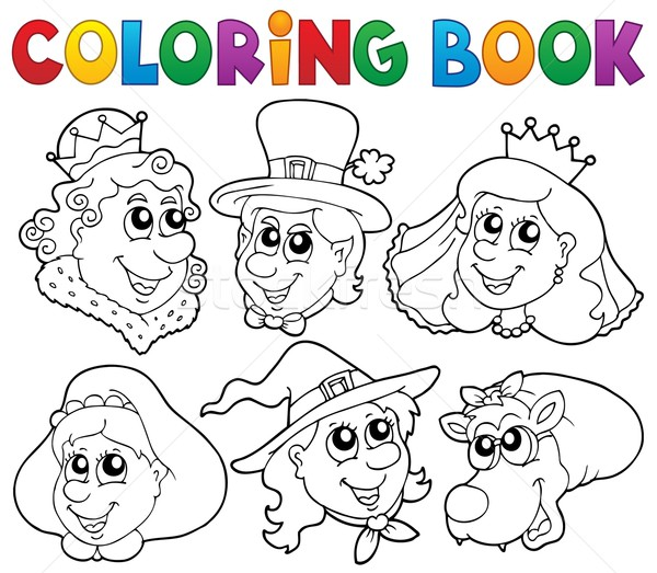 Coloring book fairy tale portraits Stock photo © clairev