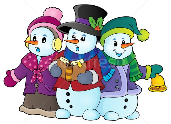 Snowmen carol singers theme image 1 Stock photo © clairev