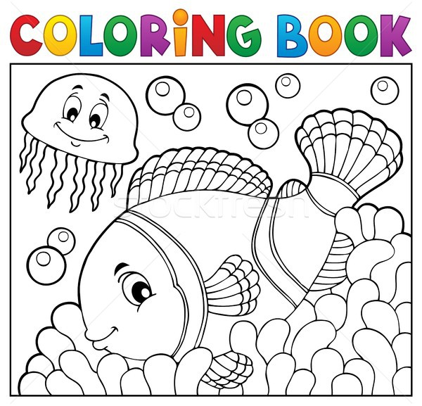 Coloring book clownfish topic 2 Stock photo © clairev