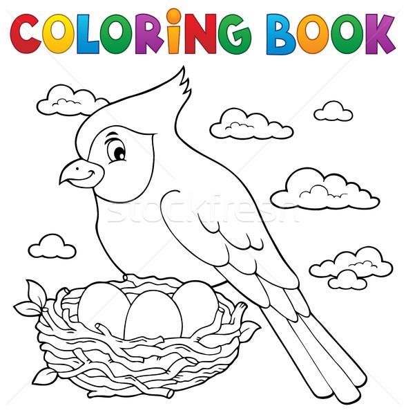 Coloring book bird topic 3 Stock photo © clairev