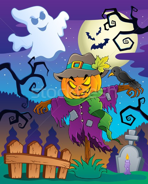 Halloween scarecrow theme image 2 Stock photo © clairev