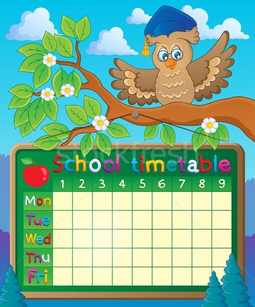School timetable theme image 5 Stock photo © clairev