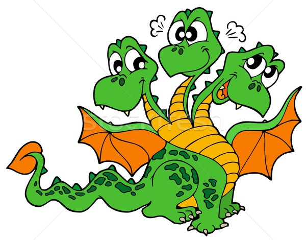 Cute three headed dragon Stock photo © clairev