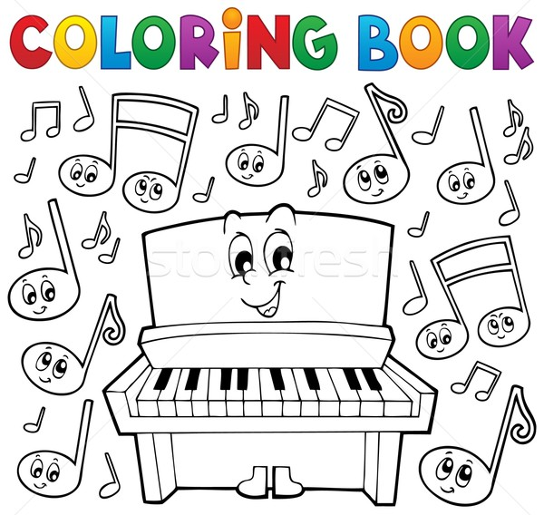 Coloring book music theme image 1 Stock photo © clairev