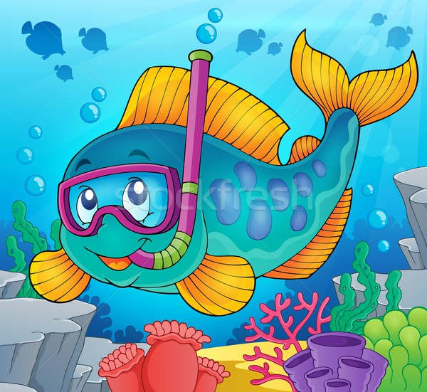 Fish snorkel diver theme image 2 Stock photo © clairev