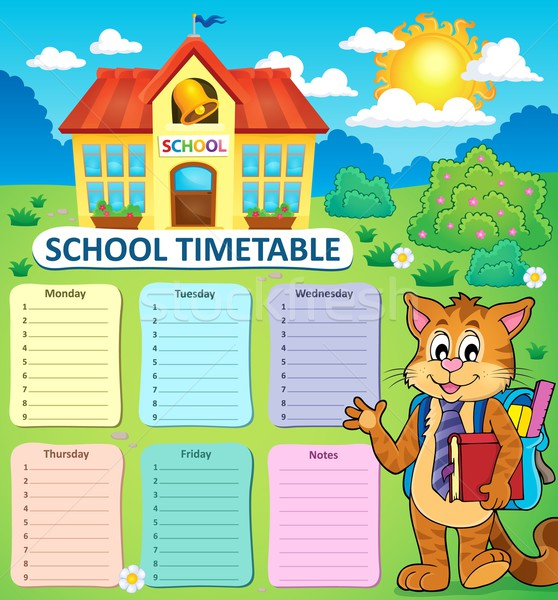 Weekly school timetable concept 2 Stock photo © clairev