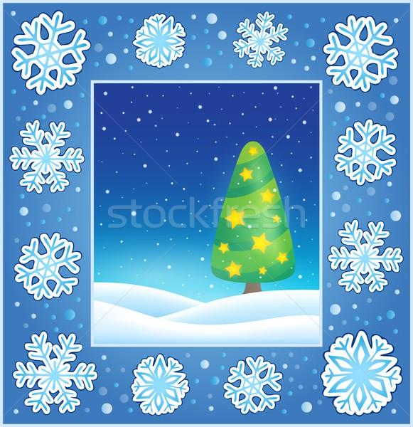 Christmas subject greeting card 3 Stock photo © clairev