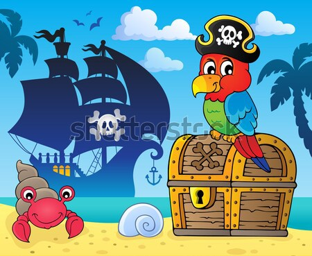 Pirate hippo theme 3 Stock photo © clairev