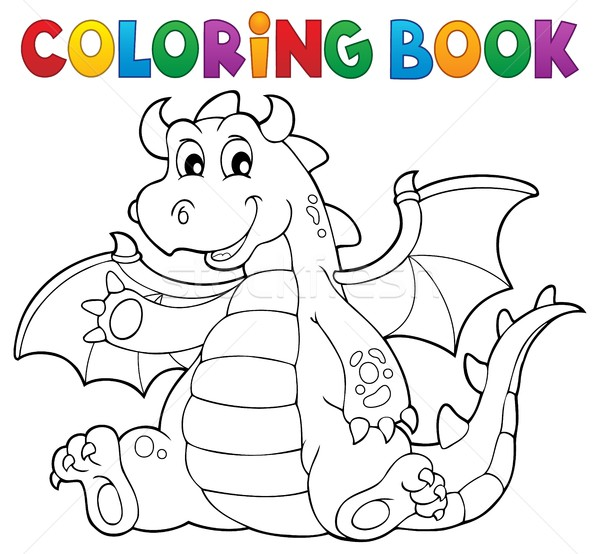 Coloring book dragon theme image 6 Stock photo © clairev