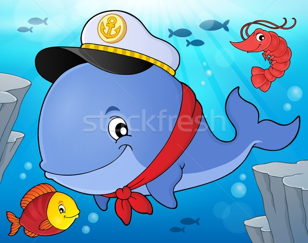 Sailor whale theme image 4 Stock photo © clairev