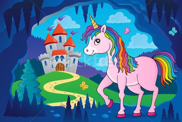 Happy unicorn topic image 4 Stock photo © clairev