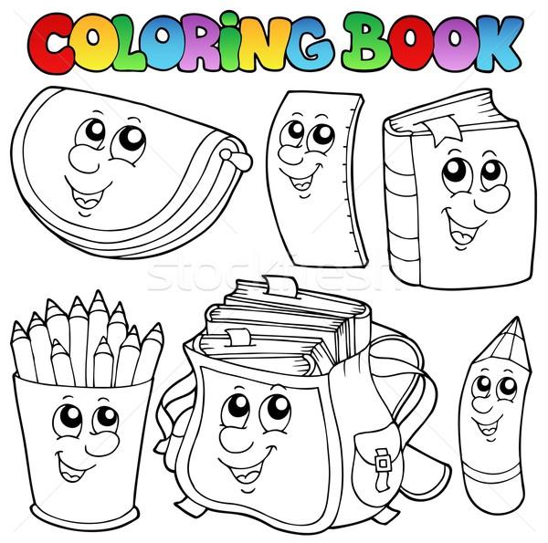 Coloring book school cartoons 1 Stock photo © clairev