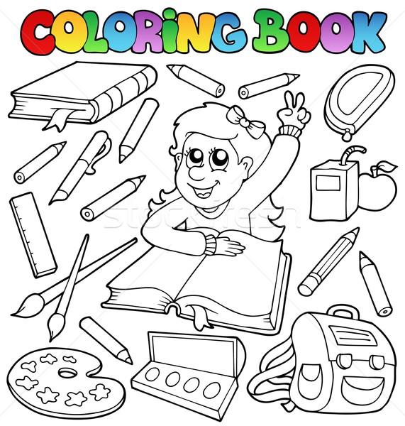 Coloring book school topic 1 Stock photo © clairev