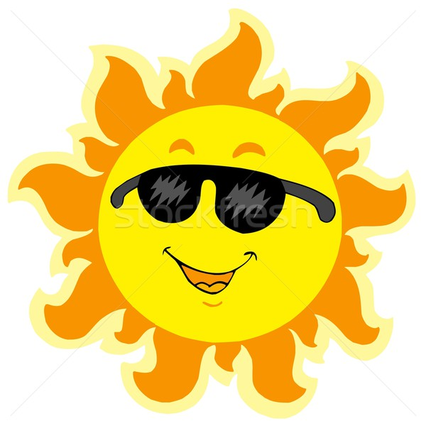 Cute summer Sun with sunglasses Stock photo © clairev