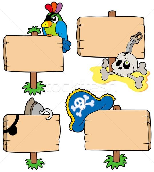 Foto stock: Pirata · sinais · coleção · olho · assinar