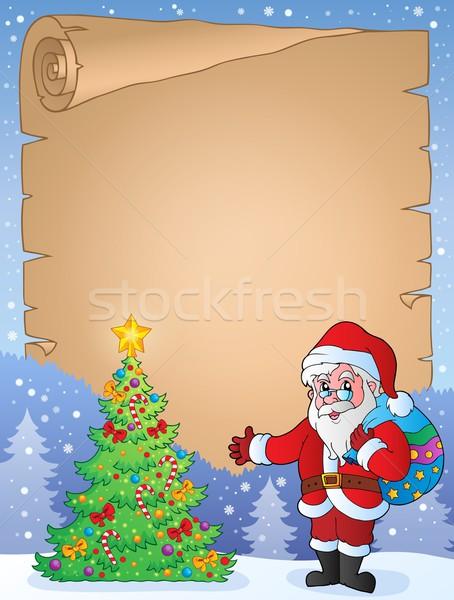 クリスマス トピック 羊皮紙 芸術 冬 現在 ストックフォト © clairev
