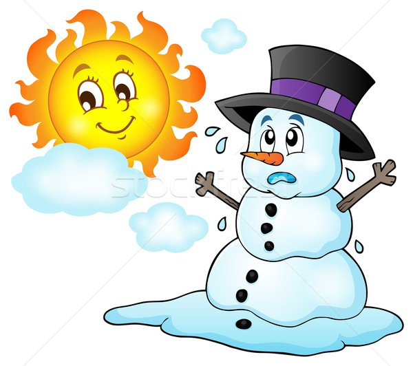 Melting snowman theme image 1 Stock photo © clairev