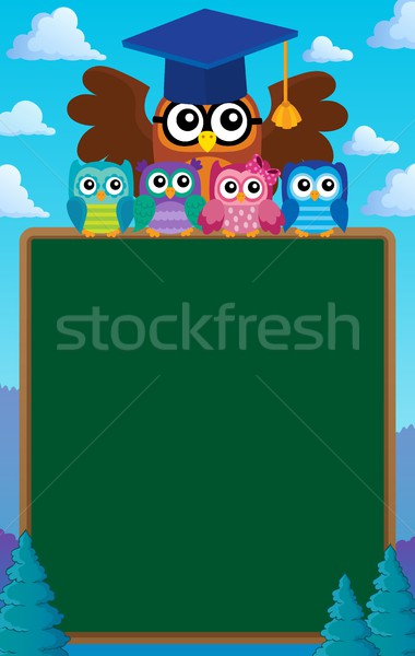Owl teacher and owlets theme image 7 Stock photo © clairev