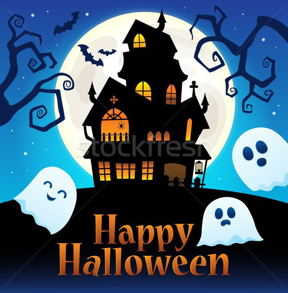 Happy Halloween sign thematic image 2 Stock photo © clairev