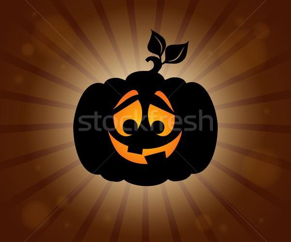 Sylwetka temat jesienią wakacje cień Zdjęcia stock © clairev