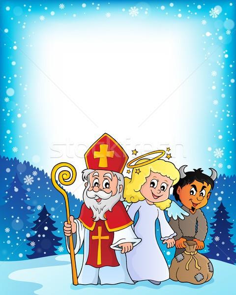 Saint Nicholas Day theme 3 Stock photo © clairev
