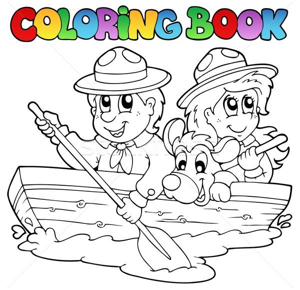 Boyama kitabı tekne kitap spor çocuk boya Stok fotoğraf © clairev