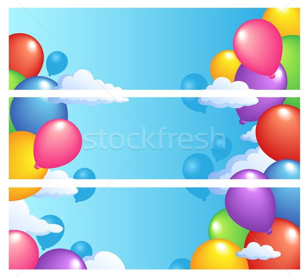 Bannières ballons ciel art amusement jouet Photo stock © clairev