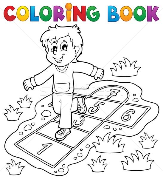 Carte De Colorat Copii Joacă Carte Proiect